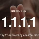 Cloudflare lancia i suoi DNS con 1.1.1.1, più velocità e sicurezza, gratis.